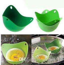 Wholesale Silicone Egg Cooker Silicone Egg Poacher Pod Egg Boiler non toxic Egg Steamer Peach Pod egg boiler DDA2923