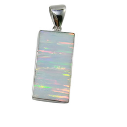 Fashion silver Jewelry of Original design and pure handmade workship for rectangle Opal Stone for women in party for N724