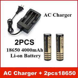 Wholesale New AC Charger EU US Excellent UltraFire V mAh Rechargeable Li ion Battery