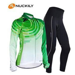 cycling clothes hot sale women cycling Jerseys suits in winter autumn fall with long sleeve bike top & (bib) pants in bike clothing