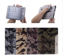 Wholesale Ultrathin Camouflage Style Leather Case Fashion Cool Case for ipad air ipad for ipad mini With Belt Card Holder