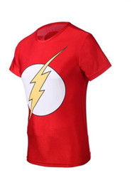 Wholesale-Hot Sale 2016 summer Marvel Super Hero The Flash Compression shirt, Men Sport Fitness Running T shirt , Men Gym Tights Clothes