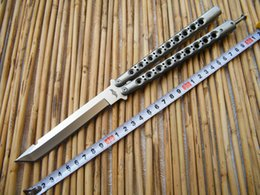 Wholesale Deluxe CM THE ONE halo blade Balisong Butterfly knife C Tanto Blade Die cast stainless steel handle Tactical knives