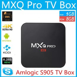 Amlogic android à vendre-MXQ Pro TV Box Amlogic S905 / S905X Quad Core Android 5.1 1 Go 8 Go WIFI 4K HDMI H.265 OTT TV Box