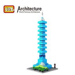 Wholesale LOZ Architecture Taipei D Building Blocks Chinese Architecture Model Taipei Intelligence Educational Gift Toy Children