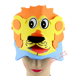 Wholesale Factory direct sale masks EVA animal headdress nursery school performance props animal series Lion stereoscopic hat Party Su