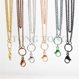 Wholesale 32 cm L Stainless Steel mm Rolo Chain for Floating Locket Pendant Jewelery