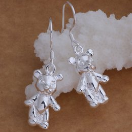 Wholesale Fashion Jewelry Manufacturer a Bear earrings sterling silver jewelry factory price Fashion Shine Earrings