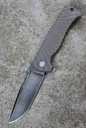 Wholesale New works MG brand Bliztwing quot Lightning quot knife Germany D2 bearing flipper open tactical folding knife