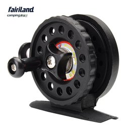 Wholesale 10pcs Fairiland BB mm Ice Fishing Reel Gear Ratio ABS Plastic Lightweight g oz Black Ice Fishing Vessel Wheel