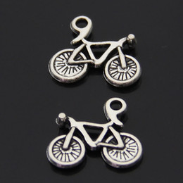 Free Shipping 60pcs lot sports riding bicycle charm pendant 15*16mm antique silver fit necklace diy jewelry making