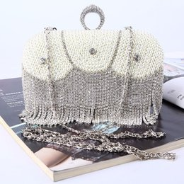 Factory-direct Retaill Wholesale brand new handmade unique beaded diamond evening bag clutch with satin pu for wedding banquet party porm
