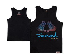 diamond supply co tank tops loose brand new 2018 hip hop tank tops men's top sleeveless vest free shipping hiphop shirt