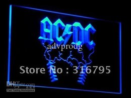 Wholesale c004 b ACDC AC DC Rock n Roll Bar Neon Light Signs