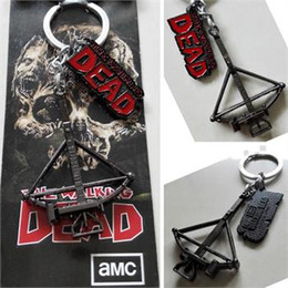 Wholesale AMC The Walking Dead Daryl Dixon crossbow Logo Black cm Metal Keychain keyring
