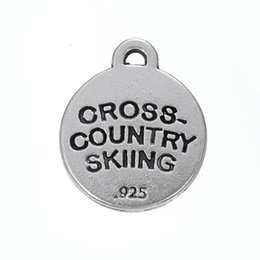 Wholesale CROSS COUNTRY SKIING fashion new style antique silver plated charms DIY for jewelry custom making