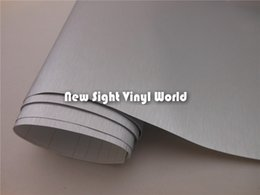Wholesale High Quality Silver Brushed Metallic Vinyl Film Brushed Silver Vinyl Wrap Air Bubble Free Size M Roll