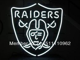 Wholesale OAKLAND RAIDERS HANDCRAFTED REAL NEON GLASS TUBE BEER BAR NEON LIGHT SIGN quot x14 quot