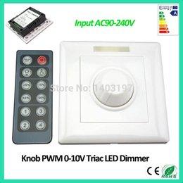 Gros-1PCS Livraison gratuite High Voltage infrarouge 12 Touche Bouton PWM 0-10V Triac LED Gradateur entrée AC90-240V PWM LED Triac Dimmer à partir de haute tension gradateur fabricateur