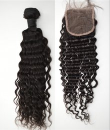 Peruvian virgin hair with closure 3bundles with closure G-EASY hair products lace closure deep wave hair weave deals