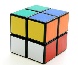 Wholesale 2X2X2 Sengshou Magic ABS Ultra smooth Professional Speed Cube Puzzle Twist Smooth PVC Paster x5x5cm