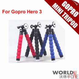 Wholesale Gopro Camera Tripod Flexible Leg Mini Tripod for Gopro Digital Camera and Phone Go pro Mount Adapter for Gopro Hero