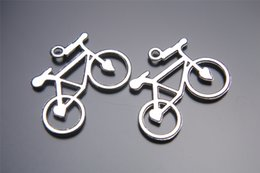 100pcs 31mm Heart Bike bicycle Pendant Beads Components Charms 7102 Plated Silver DIY Jewelry Craft Necklace infinity Fit Bracelets Earring