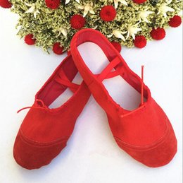 Wholesale NEW CANVAS BALLET DANCE SHOES SLIPPERS Toddler Adult Black Red Pink White SIZE