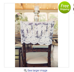 Wholesale 80 pieces Lace Wedding Chair Covers Sashes Wedding Decorations Chair Covers