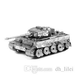 Wholesale German Tiger Tank D Puzzle Mental Alloy For Adults DIY Toys Collection Assembled Model Gift For Kids Children Birthday Present