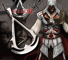 Free HOT 12pcs Lot Game Assassins Creed Cosplay Necklace Pendant Game Extensions Jewelry