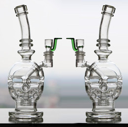 Skull Shape Glass Bong Faberge Egg Bongs Water Pipes Two-function Oil Rigs Glass Bongs Headshower Percolators Bubbler Hookahs