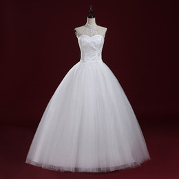 Wholesale LY11 Sexy Fashionable Plus Size Custom Made Halter Beadings organza Cheap Wedding Dress Bridal Dress of bride Gowns Dresses Vestidos