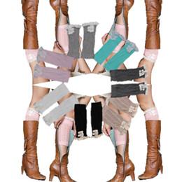 lady Crochet Lace leg warmers Boot Cuff lady Knit Leg Warmers 2015 NEW fashion Ballet Boot Socks D680J