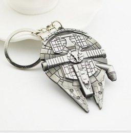 Wholesale 2016 Star Wars movie Star Wars spaceship metal key chain The man is hanged adorn