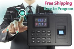 Wholesale TFT Biometric Fingerprint Time Attendance Clock No need Software Employee Payroll Recorder Easy to Use