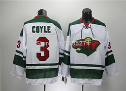 2015 Customer good quality evaluation,Minnesota Wild #3 Charlie Coyle Jersey White mens ice hockey jersey Wholesale sale