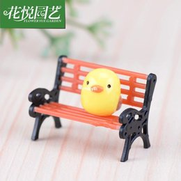 Wholesale mini microlandschaft cute craft Park benches recliner seats child moss meaty meaty micro landscape ornaments creative jewelr