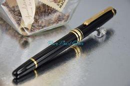 Wholesale PURE PEARL MB High Quality Best Design Pure Black Golden Clip Roller Ball Pen