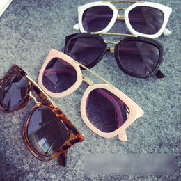 Wholesale 2016 fashion ultraviolet proof Kids sunglasses Childrens sunglasses girls and boys Cat Eye baby Leopard Adumbral Butterfly glass accessory