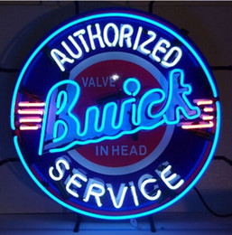 Wholesale Authorized Car Buick Service Neon Sign W Silkscreen Backing Garage Wall New Art Real Glass Neon Car S Store Advertisement Sign quot X24 quot
