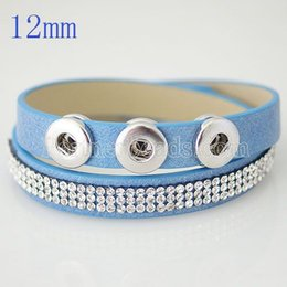 Wholesale-HOT sale freeshipping PU leather snap bracelets for snap button fit ginger 12mm snaps KB0956-S
