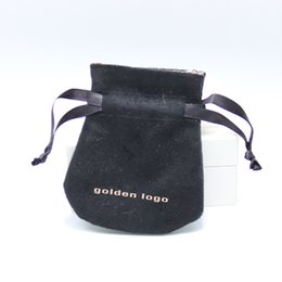 Wholesale 100 New Pandora Black Suede Satin Drawstring Packing Pouch With Black Cords