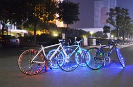 Wholesale Easy Install Water resistant LED Bicycle Bike Rim Lights Night Cycling Wheel Spoke Light m String Wire Lamp Y1745