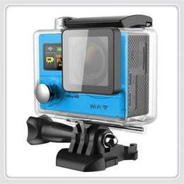 Wholesale Best H3 Dual Screen K Action Camera With Wifi Sport Cameras degrees Wide Angle M Waterproof Same Design as Gopro Hero