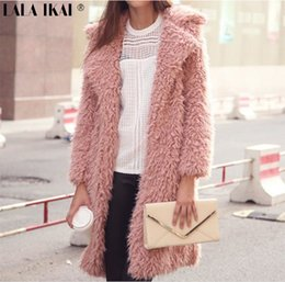 Europe and the United States hot winter new wool coat, 2017 fashion women's coat, lapel in the long wool, wool coat, cotton padded clothes