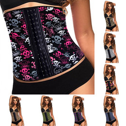 Wholesale Sexy Leopard Bodysuit Xl - Cute mickey Bodysuit Shapers for Women Waist Trainer Training slimming Bustier Sexy Skulls leopard grain Hollow Out Corset Hot New 13038