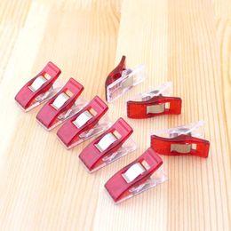 Wholesale 100PCS Red PVC Plastic Clips For Patchwork Sewing DIY Crafts Quilt Quilting Clip Clover Wonder Clip CM