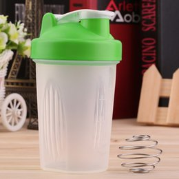 Wholesale Smart Shake Gym Protein Shaker Mixer Cup With Stainless Whisk Ball ML green New