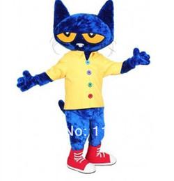 Wholesale Pete the Cat mascot costume custom fancy costume anime cosply kits mascotte fancy dress carnival costume